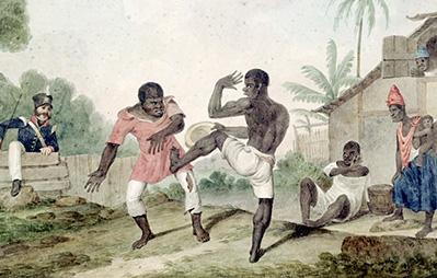 Visuel représentant l'histoire de la capoeira